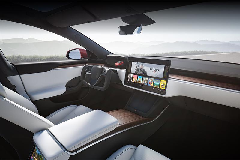 Model 3的仪表,特斯拉的方向盘