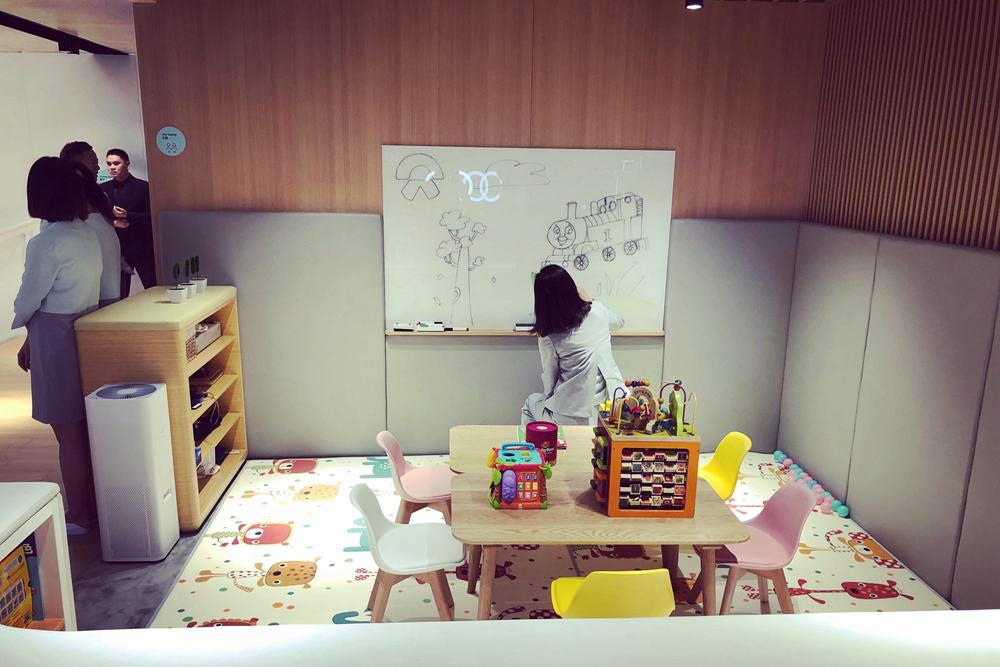 蔚来中心内的儿童活动空间
