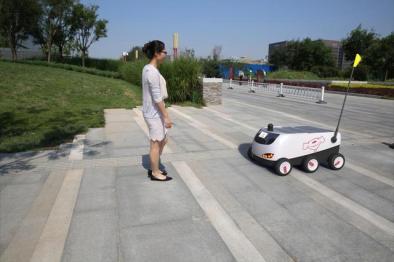 京东发布国内首辆无人配送车,明年将有望大规模商用