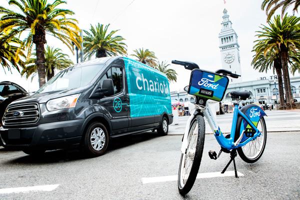 """福特在旧金山推出""""班车通勤""""和""""GoBike""""自行车共享服务"""