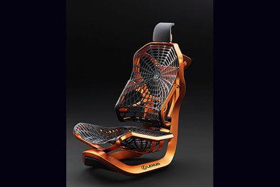 雷克萨斯?#25925;?#21512;成蜘蛛丝制成的动能座椅