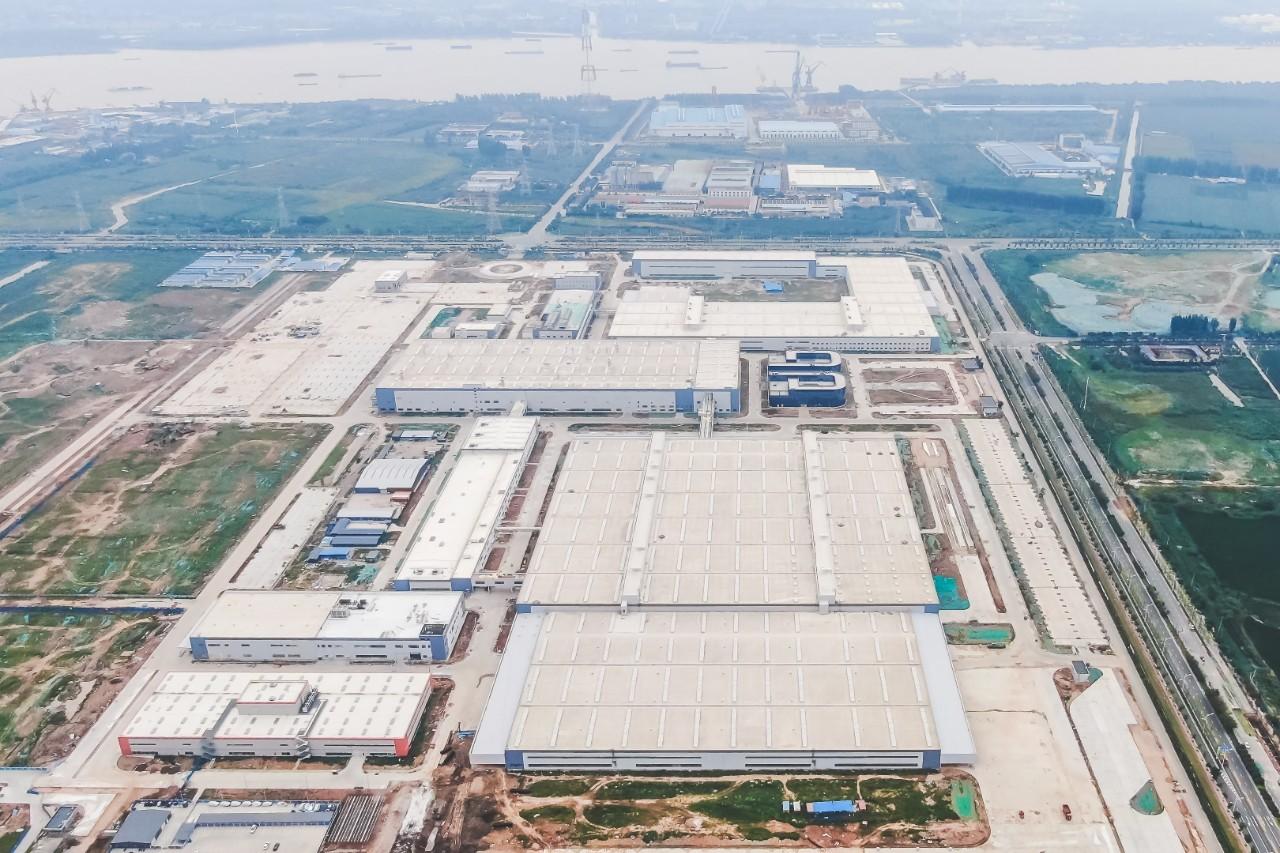 2019年10月,拜腾南京工厂鸟瞰图