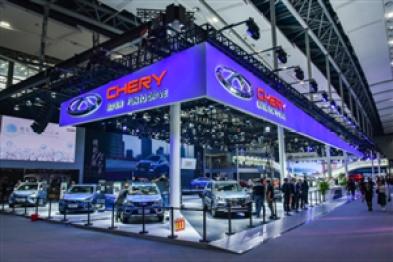 奇瑞登陆广州车展,艾瑞泽和瑞虎全系产品亮相