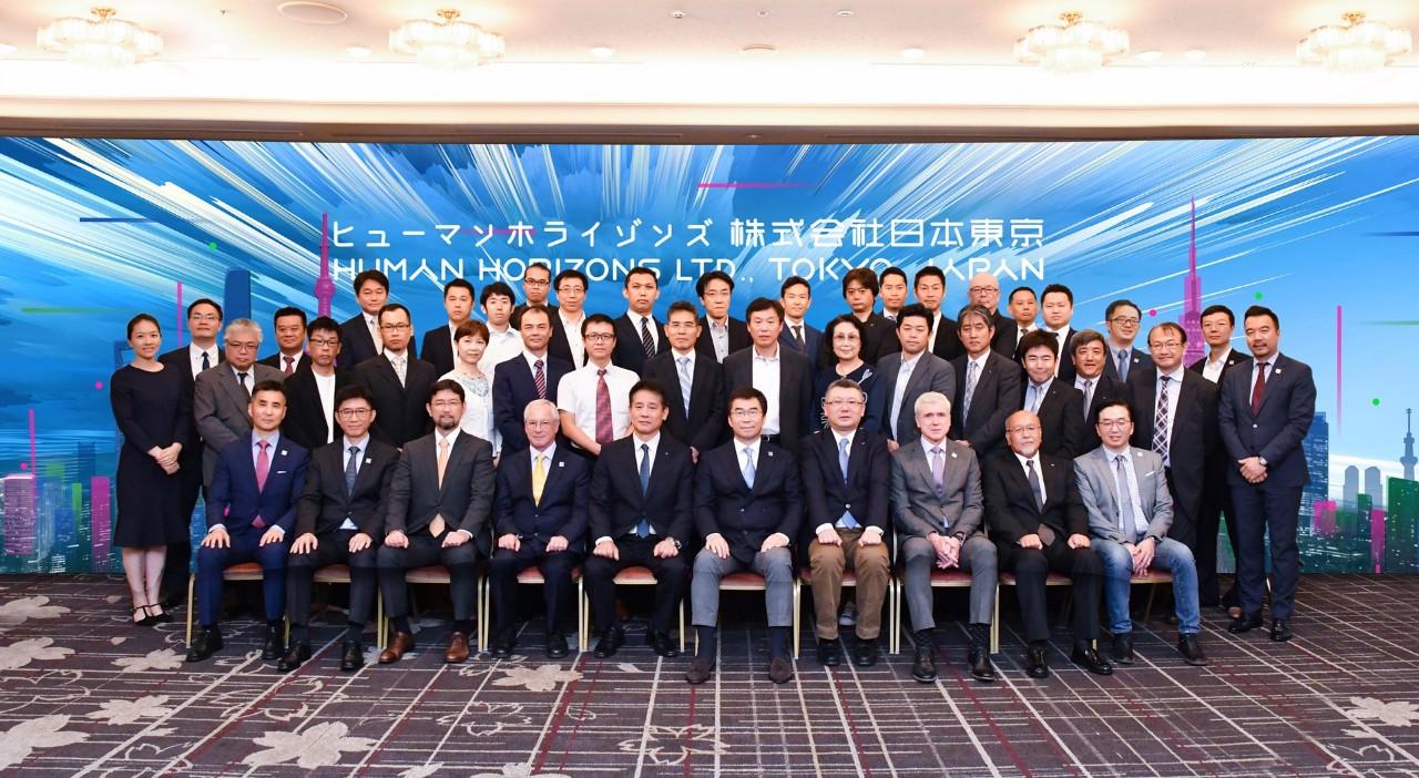 日本知名企业和机构的主要负责人及代表等众多嘉宾应邀出席华人运通日本中心Human Horizons Japan Center开业仪式。