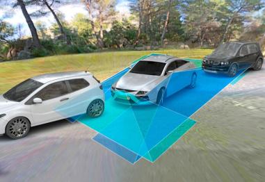 大陆集团360度全景系统摄像头技术,可为驾驶员提供倒车辅助