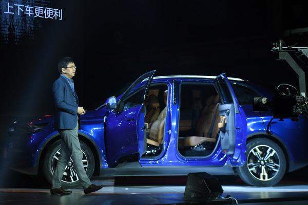 2017年4月13日,沈海寅在北京发布奇点iS6车型