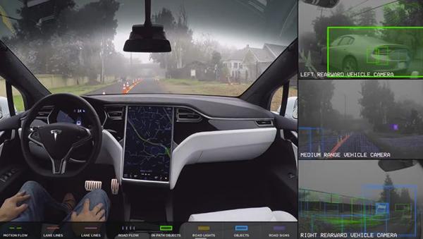 特斯拉正在测试自动驾驶技术