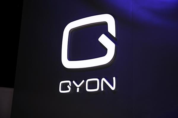 新高端新能源电动汽车GYON在品鉴会现场,提前与媒体见面