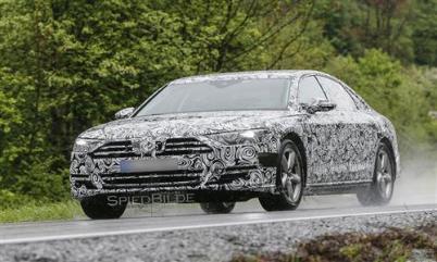 新一代奥迪A8测试车曝光,搭载自动驾驶功能