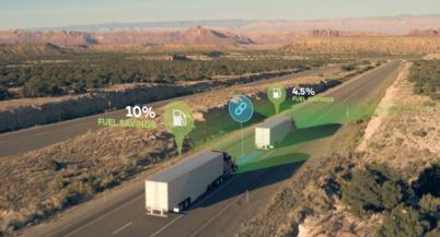 可商用的货车组队行驶方案问世,最高可降低油耗10%