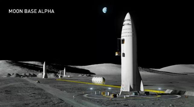 服务阿尔法月球基地