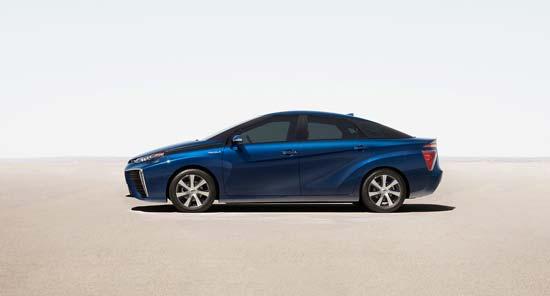 图注:丰田的氢燃料电池车Mirai