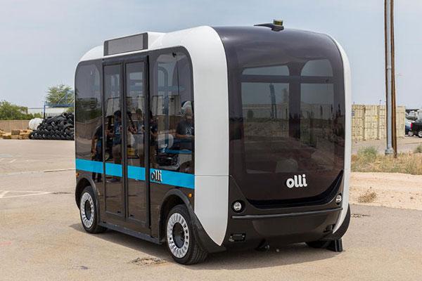 自动驾驶小巴Olli已经开始路试,明年于拉斯维加斯开始商业运营
