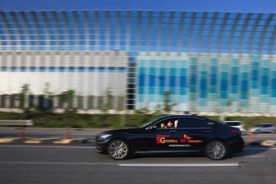 韩国SK电信在高速路上测试无人驾驶汽车