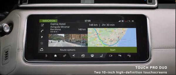 上方屏幕的导航界面