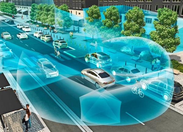 高清三维激光扫描雷达(HFL)可显示车辆周围的精细视图