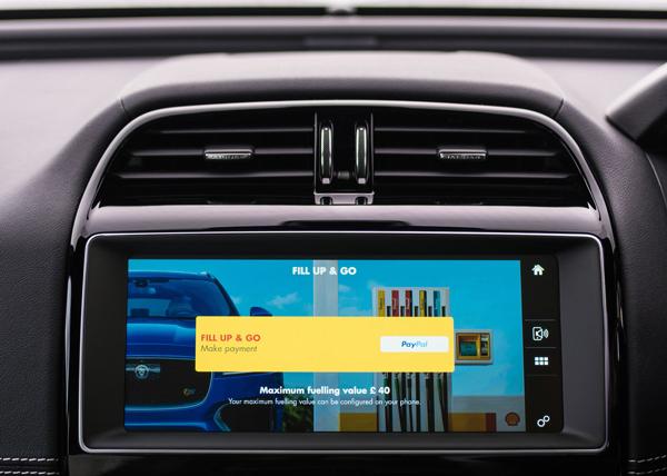 捷豹联合壳牌公司推出的车内支付加油费用的功能
