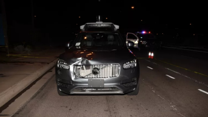 撞了Elaine Herzberg之后的Uber测试车辆