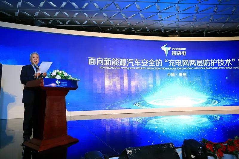 国家新能源汽车创新工程项目专家组组长王秉刚宣读评审会结论