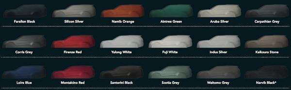 路虎全新一代发现配色方案