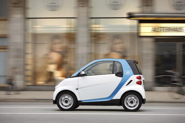 戴姆勒Car2go共享汽车