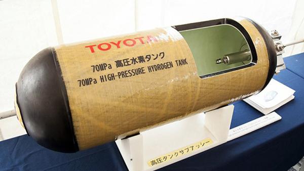 丰田氢燃料电池汽车Mirai使用的高压储氢罐