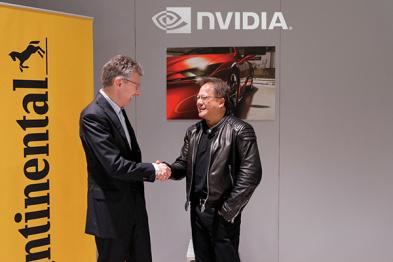 英伟达与德国大陆集团合作,开发无人驾驶汽车系统