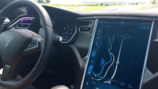 博世高度自动驾驶HMI界面-路径显示