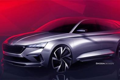 斯柯達VISION RS設計草圖曝光,巴黎車展全球首發
