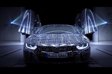宝马i8 Roadster官方预告首发,有望9月亮相