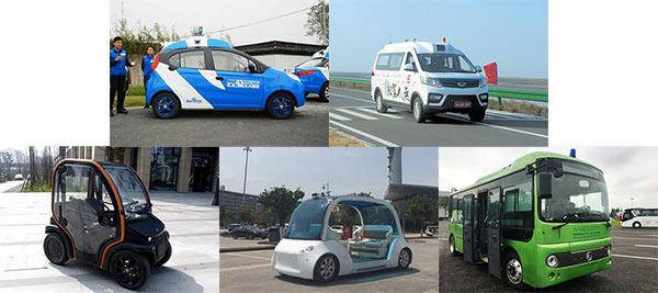 从左到右从上到下:百度、北汽、智行者、驭势、IVTTC的无人车,部分图片来自网络