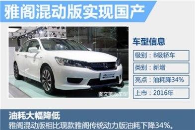本田三年将推14款新车 混动雅阁年内上市
