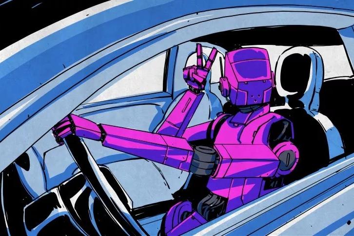 """科技说丨自动驾驶汽车的""""表情包"""""""
