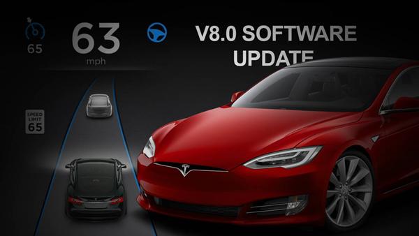 特斯拉Tesla固件8.0版本升级