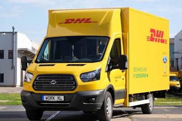 福特与DHL合作的电动货车