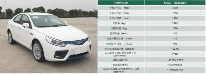 同为江淮生产的和悦新款车型电耗Pack容量相似,但电耗较低