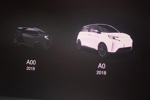 新特规划的A00级产品(左)