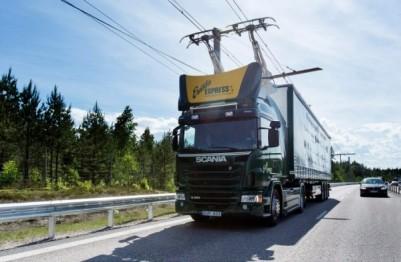 瑞典将为电动卡车提供高架电线供电