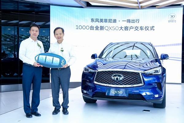 东风英菲尼迪与一嗨出行战略合作签约暨全新QX50交车仪式