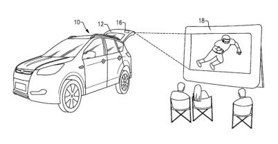福特新专利揭示汽车后挡板将装投影仪