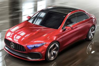 奔驰全新入门级轿车曝光,计划在华投产