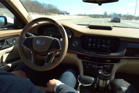 凯迪拉克ct6车型来检测该技术,该车队将从纽约的凯迪拉克总部出发行至