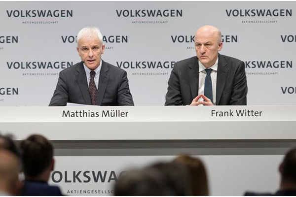 大众汽车集团CEO穆伦与大众汽车集团首席财务官Frank Witter