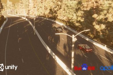 百度合作Unity,利用虚拟仿真场景测试自动驾驶汽车