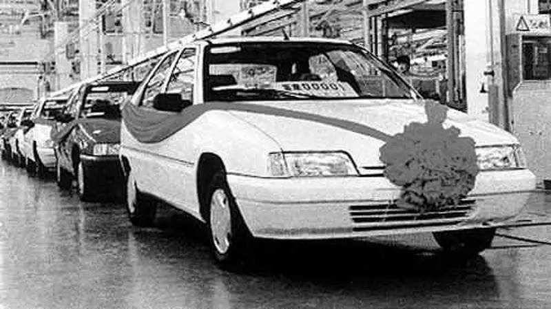1992年,第一批富康下线