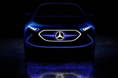 奔驰EQA概念车曝光,纯电动续航400公里