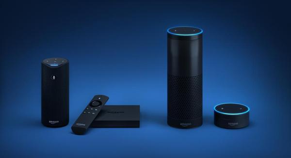 嵌入了Alexa智能语音助手效劳的亚马逊Echo产物系列