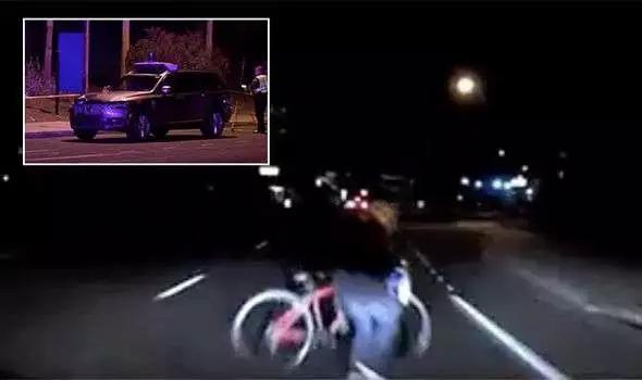 优步自动驾驶汽车撞死行人事故发生前受害人影像记录