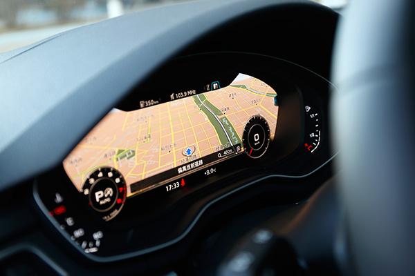奥迪虚拟驾驶舱——12.3英寸全数字液晶显示仪表