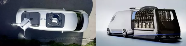 梅赛德斯奔驰Vision Van(仓库机器人+无人机)